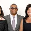 FILE - This Feb. 4, 2013 file photos shows Oscar nominated producers Stacey Sher, left, Reginald Hudlin, center, and Pilar Savone at the 2013 Oscar Nominee Luncheon in Los Angeles. The three are nominated for the film,