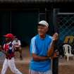 The uncle of Detroit Tigers' Miguel Cabrera, Jose Torres, watches a practice at the baseball filed where Cabrera learned to play, in Maracay, Venezuela, Friday, March 28, 2014. Unlike many Latin American countries, where soccer is king, baseball is the national obsession in Venezuela, cutting across classes and political ideologies. Cabrera was born into a family particularly wrapped up in the sport. His uncle Jose played professionally with the local Tigres de Aragua team, and his mother Gregoria was a member of the national softball team for 12 years. (AP Photo/Alejandro Cegarra)