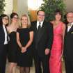 Carolyn Hsu, Jacquelyn Moorad, Sherry and Brent Tipton, Kathy Sandler, Al Moorad attend the Jim Thorpe Courage Awards Dinner.