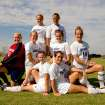 CUTLINE: SWOSU women's soccer team has four sets of sisters who play for the Bullodgs. They are (front row, left) Tulsa's Kristin and Jessica Metevelis; (middle row, left) Mustang's Becky and Jamie Hilterbran; Fort Worth's Libby and Carrie Dumbauld and (back row) Richardson, Texas twins Christina and Stephanie Kneedler.  Community Photo By:  Kyle Wright, SWOSU Photographer  Submitted By:  Justin, Tahlequah, OK