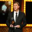 "Warren Carlyle accepts the award for best choreography for ""After Midnight"" on stage at the 68th annual Tony Awards at Radio City Music Hall on Sunday, June 8, 2014, in New York. (Photo by Evan Agostini/Invision/AP)"
