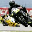 Riders in the Race Group take a turn at Hallett Motor Racing Circuit in Hallett, Ok., on Sunday, June 15, 2008. By John Clanton, The Oklahoman