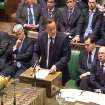 Britain's Prime Minister David Cameron, centre, speaking to the House of Commons in London  in this image taken from TV Friday Jan. 18, 2013, where the prime minister spoke about the kidnap situation in Algeria. (AP Photo/PA) UNITED KINGDOM OUT