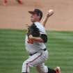 Oklahoma State relief pitcher Vince Wheeland (35) throws from the mound against Baylor in the third inning of an NCAA college baseball game on Saturday, March 22, 2014, in Waco, Texas. (AP Photo/Waco Tribune Herald, Rod Aydelotte)