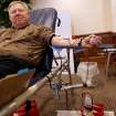Dr. Gerald Gurney, Senior Associate Athletic Director for Academics, gives blood during a Red Cross blood drive at the University of Oklahoma (OU) in Norman at Monday, April 6, 2009. Photo by John Clanton, The Oklahoman
