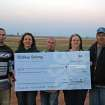 Yukon BMX Board Members proudly display a grant check received from Bikes Belong for track resurfacing and a new mountain bike trail in Taylor Park.  Pictured from left to right are:  Yukon BMX President- Sean McGillicuddy  Secretary/Grantwriter-Valerie Boudreaux  Board Member-Larry Anlauf  Treasurer/Track Operator-Kelle Freels  Track Operator-Bob Freels  Community Photo By:  Yukon BMX  Submitted By:  Valerie, Yukon