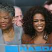 "In this photo released by Nasdaq, Oprah Winfrey, right, and Maya Angelou attend  the Nasdaq opening bell Monday Sept. 25, 2006 in New York. The ""Oprah & Friends"" channel debuts Monday on XM Satellite Radio. (AP Photo/Nasdaq, Rob Tannenbaum) ORG XMIT: NYR103"