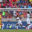 Ghana's Mubarak Wakaso, center, celebrates scoring against Mali during their African Cup of Nations Group B soccer match in Port Elizabeth, South Africa, Thursday, Jan. 24, 2013. (AP Photo/Schalk van Zuydam)