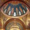"This 2009 photo provided by Hildreth Meiere Dunn shows the Dome of the twelve apostles in the Cathedral Basilica of St. Louis decorated by the photographer's grandmother, Art Deco muralist Hildreth Meiere, in St. Louis, Missouri. While Meiere's name has been largely forgotten, her works abound throughout the country. ""The Art Deco Murals of Hildreth Meiere,"