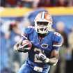 UNIVERSITY OF FLORIDA COLLEGE FOOTBALL / JEFFREY DEMPS: Jeff Demps has run a 10.01 100 meters, which is believed to be the fastest track time ever run by a football player. AP PHOTO