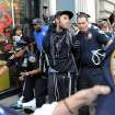 A person associated with the Occupy movement is arrested on a march down Broadway Street in New York enroute to Zuccotti Park, Saturday, Sept. 15, 2012. Monday marks the one year anniversary of the Occupy movement. (AP Photo/Stephanie Keith)