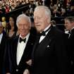 Christopher Plummer, left, and Max von Sydow arrive before the 84th Academy Awards on Sunday, Feb. 26, 2012, in the Hollywood section of Los Angeles. (AP Photo/Matt Sayles) ORG XMIT: OSC238