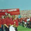 Sterling Shepard (in No. 3 jersey) at a Sept. 23, 2000, game against Rice during which the 1985 Oklahoma championship team was honored. Sterling's father, Derrick Shepard, played on the 1985 team. PHOTO  PROVIDED