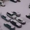 Vehicles covered with sleet and freezing rain. Picture taken from the 7th floor of the Walker-Sheridan parking garage.Keith Sossamon