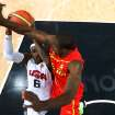 United States'  LeBron James (6) drives to the basket against Spain's Serge Ibaka during the men's gold medal basketball game at the 2012 Summer Olympics  in London on Sunday, Aug. 12, 2012. (AP Photo/Christian Petersen, Pool)