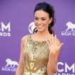 Singer Jana Kramer arrives at the 48th Annual Academy of Country Music Awards at the MGM Grand Garden Arena in Las Vegas on Sunday, April 7, 2013. (Photo by Al Powers/Invision/AP) ORG XMIT: NVPM241