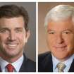 This photo combo of file images provided by Johnson & Johnson show Johnson & Johnson CEO Alex Gorsky, left, and Chairman Bill Weldon. Weldon will step down from the post of Chairman in late December 2012, at which time Gorsky will hold both of the company's top titles. (AP Photo/Johnson & Johnson)