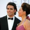 Actress Ashley Judd, right and husband Dario Franchitti arrives at the 64th Primetime Emmy Awards at the Nokia Theatre on Sunday, Sept. 23, 2012, in Los Angeles. (Photo by Matt Sayles/Invision/AP)