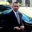 FILE - This Oct. 1, 2013 file photo shows New York Yankees' Alex Rodriguez arrivng at the offices of Major League Baseball in New York. Rodriguez sued Major League Baseball and its players' union Monday, Jan. 13, 2014 seeking to overturn a season-long suspension imposed by an arbitrator who ruled there was