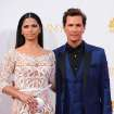 Camila Alves, left, and Matthew McConaughey arrive at the 66th Annual Primetime Emmy Awards at the Nokia Theatre L.A. Live on Monday, Aug. 25, 2014, in Los Angeles. (Photo by Jordan Strauss/Invision/AP)