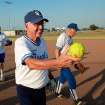 """Warren """"Woody"""" Wood hands off the game ball after a game at the Plex Sports Complex in Oklahoma City, July 5, 2011.  Photo by Garett Fisbeck, The Oklahoman"""