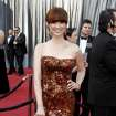 Ellie Kemper arrives before the 84th Academy Awards on Sunday, Feb. 26, 2012, in the Hollywood section of Los Angeles. (AP Photo/Matt Sayles) ORG XMIT: OSC256