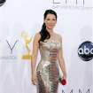 Lucy Liu arrives at the 64th Primetime Emmy Awards at the Nokia Theatre on Sunday, Sept. 23, 2012, in Los Angeles. (Photo by Matt Sayles/Invision/AP)