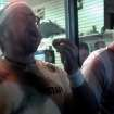 CORRECTS SOURCE TO SARAH BERNARD - This frame grab made from video on Friday, Oct. 5, 2012, and provided by Sarah Bernard shows Edward Archbold competing in a roach-eating contest at Ben Siegel Reptile Store in Deerfield Beach, Fla. Archbold, 32, winner of the contest, died shortly after downing dozens of the live bugs as well as worms, authorities said Monday, Oct. 8. Authorities were waiting for results of an autopsy to determine a cause of death. (AP Photo/Courtesy Sarah Bernard)