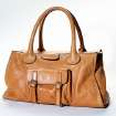 A Chloe handbag, $800 from Ampersand, can be part of an eco fashion makeover. (Kirk McKoy/Los Angeles Times/MCT)