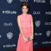 Sarah Hyland arrives at the 15th annual InStyle and Warner Bros. Golden Globes after party at the Beverly Hilton Hotel on Sunday, Jan. 12, 2014, in Beverly Hills, Calif. (Photo by Matt Sayles/Invision/AP)
