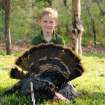 Dawson Sallee, 8, of Guthrie killed his first gobbler during last weekend's youth turkey season. PHOTO PROVIDED