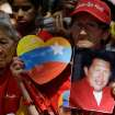 A woman holds a picture of Venezuela's President Hugo Chavez as supporters gather at Simon Bolivar square in Caracas,Venezuela, Sunday Dec.  9, 2012.  Chavez is to return to Cuba Sunday for another surgery in his battle against cancer, which has led him to speak publicly of a successor for the first time.  Chavez said Saturday that if there are
