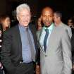 Actors James Woods, left,  and Jamie Foxx attend the