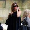 Actress Jamie Lynn Sigler arrives for the funeral service of James Gandolfini, star of