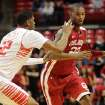 Oklahoma's Amath M'Baye drives against Texas Tech's Jordan Tolbert during their NCAA college basketball game in Lubbock, Texas, Wednesday, Feb. 20, 2013. (AP Photo/The Avalanche-Journal, Stephen Spillman) ALL LOCAL TV OUT ORG XMIT: TXLUB101