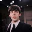 FILE - In this Feb. 1964 file photo, the Beatles' Paul McCartney is shown on the set of the Ed Sullivan Show. McCartney turned 70 Monday June 18, 2012. McCartney turned 70 Monday June 18, 2012. (AP Photo/File)