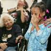 Civil rights pioneer Clara Luper, her daughter Marilyn Hildreth and 9 year-old Alexia Grant react to the Inauguration of President Barack Obama. Luper was watching TV at the Freedom Center at NE 26th and Martin Luther King Blvd. in Oklahoma City. January  20, 2009.  BY STEVE GOOCH, THE  OKLAHOMAN.