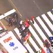 In this frame grab from WABC-TV, emergency personnel respond to reports of several people being shot outside the Empire State Building, Friday, Aug. 24, 2012, in New York. Authorities say the shooter is dead. (AP Photo/WABC-TV) MANDATORY CREDIT ORG XMIT: NY113