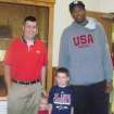 The Convirs family with Kevin Durant. PHOTO PROVIDED
