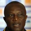 Ghana's head coach Kwesi Appiah speaks during a press conference in Nelspruit, South Africa, Tuesday Feb. 5, 2013, ahead of their African Cup of Nations semifinal soccer match against Burkina Faso on Wednesday. (AP Photo/Themba Hadebe)