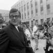 FILE - In this June 21, 1974 , file photo former Nixon White House aide Charles W. Colson arrives at U.S. District Court in Washington to be sentenced for obstructing justice.  Colson, the tough-as-nails special counsel to President Richard Nixon who went to prison for his role in a Watergate-related case and became a Christian evangelical helping inmates, has died. He was 80. Jim Liske, chief executive of the Lansdowne-based Prison Fellowship Ministries that Colson founded, said Colson died Saturday, April 21, 2012. (AP Photo/Bob Daugherty) ORG XMIT: NY204