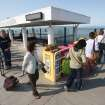 Commuters board the San Francisco Bay Ferry at the Harbor Bay terminal in Alameda, Calif., on Tuesday, July 2, 2013. The BART strike is in its second day and bargaining talks have not resumed. (AP Photo/The Contra Costa Times, Jane Tyska)