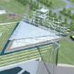 An artist's rending shows a proposed pavilion which will be built along the Oklahoma River in Oklahoma City. Image PROVIDED