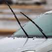 Wipers pulled away from this car's windshield in a parking lot near NW 58 and May Ave, Thursday,  Jan. 28, 2010. Photo by Jim Beckel, The Oklahoman