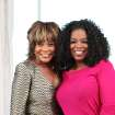 "In this July 29, 2013 publicity photo provided by courtesy Harpo Inc., Oprah Winfrey, right, poses with guest, Tina Turner, during ""Oprah's Next Chapter: Tina Turner"" in Nice, France.  (AP Photo/Copyright Harpo Inc., George Burns) ORG XMIT: CAPH432"