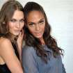 In this commercial image provided by MTV.com, models Karlie Kloss and Joan Smalls pose for a photograph on Sept. 4, 2012 in Los Angeles, Calif. The
