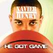 ALBUM COVER / XAVIER HENRY - HE GOT GAME GRAPHIC WITH PHOTO: All-State basketball player Xavier Henry. from Putnam City High School, poses for a photo recreating the album cover for Public Enemy's