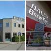 This combination photo shows left, a photo provided by Hale's Ales Brewery in its early days, and right, people eating in the outdoor seating area at Hale's Ales Brewery and pub in the Ballard neighborhood of Seattle on June 28, 2013. In 1995, Hale's Ales took over a facility that had housed an industrial hose manufacturer and before that a maker of engines. The neighborhood has become