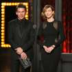 Ethan Hawke, left, and Vera Farmiga present the award for best performance by an actress in a featured role in a play on stage at the 68th annual Tony Awards at Radio City Music Hall on Sunday, June 8, 2014, in New York. (Photo by Evan Agostini/Invision/AP)