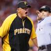 Pittsburgh Pirates manager Clint Hurdle is ejected from the game by home plate umpire Angel Campos during the second inning against the St. Louis Cardinals during a baseball game Wednesday, May 2, 2012, in St. Louis. (AP Photo/St. Louis Post-Dispatch, Chris Lee) EDWARDSVILLE OUT ALTON OUT